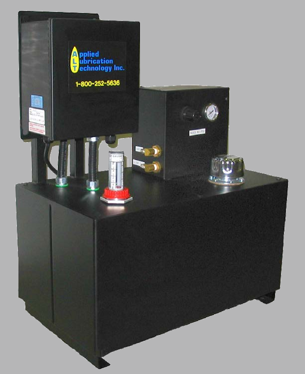 Custom designed econolube chain lubrication management system.